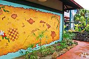 Mural of the Hawaiian Islands, Hanalei, Island of Kauai, Hawaii