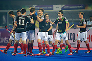 04 GER vs IND : team Germany congratulate Florian Fuchs for last minute goal
