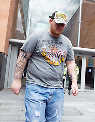 © Licensed to London News Pictures. 23/07/2011. Manchester, UK. Rebecca Leighton's fiance Tim Papworth leaving Manchester Magistrates' Court today (23/07/2011) following the nurse's court appearance. 27 year old Rebecca is charged with with six counts of causing damage with intent to endanger life in connection with five deaths at Stepping Hill Hospital in Stockport. Photo credit : Joel Goodman/LNP