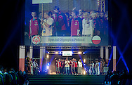 Opening ceremony one day before the 2013 Special Olympics European Unified Football Tournament at Torwar Hall in Warsaw, Poland.<br /> <br /> Poland, Warsaw, June 05, 2012<br /> <br /> Picture also available in RAW (NEF) or TIFF format on special request.<br /> <br /> For editorial use only. Any commercial or promotional use requires permission.<br /> <br /> Mandatory credit:<br /> Photo by © Adam Nurkiewicz / Mediasport