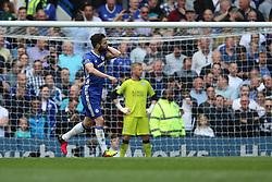 Goal, Cesc Fabregas of Chelsea scores from the penalty spot, Chelsea 1-0 Leicester City - Mandatory byline: Jason Brown/JMP - 15/05/2016 - FOOTBALL - London, Stamford Bridge - Chelsea v Leicester City - Barclays Premier League