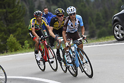 June 15, 2017 - Locarno / La Punt, Suisse - CARUSO Damiano (ITA) Rider of BMC Racing Team, KRUIJSWIJK Steven (NED) Rider of Team Lotto NL - Jumbo, POZZOVIVO Domenico (ITA) Rider of Team AG2R La Mondiale during stage 6 of the Tour de Suisse cycling race, a stage of 166 kms between Locarno and La Punt on June 15, 2017 in La Punt, Switserland, 15/06/2017 (Credit Image: © Panoramic via ZUMA Press)