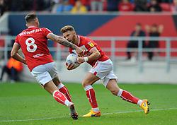 Matty Taylor of Bristol City scores a penalty making it 1-2- Mandatory by-line: Nizaam Jones/JMP- 07/10/2018 - FOOTBALL -Ashton Gate Stadium - Bristol, England - Bristol City v Sheffield Wednesday -Sky Bet Championship