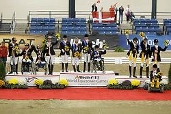 Team podium Para Equestrian<br /> 1. England, 2. Germany, 3 Denmark<br /> Alltech FEI World Equestrian Games <br /> Lexington - Kentucky 2010<br /> © Dirk Caremans