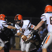 New Hanover's Ward Coleman fumbles against Hoggard Friday October 3, 2014 in Wilmington, N.C. (Jason A. Frizzelle)