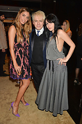 Left to right, AMBER LE BON, NICK RHODES and NEFER SUVIO at the Louis Vuitton for Unicef Event #MAKEAPROMISE held at The Apartment, 17-20 New Bond Street, London on 14th January 2016.