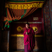 I was lucky to get this great shot of a buddhist monk in Bhutan. I adore the history and colour of the image.