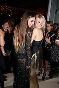 AMBER LEBON; POPPY DELEVIGNE; , Harper's Bazaar Women Of the Year Awards 2011. Claridges. Brook St. London. 8 November 2011. <br /> <br />  , -DO NOT ARCHIVE-© Copyright Photograph by Dafydd Jones. 248 Clapham Rd. London SW9 0PZ. Tel 0207 820 0771. www.dafjones.com.