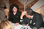 Trevor Beattie and Johnny Pigozzi, Dinner given by Alison Jackson after the launch of her new book 'Confidential. Glebe Place. Chelsea. London. 11 October 2007. -DO NOT ARCHIVE-© Copyright Photograph by Dafydd Jones. 248 Clapham Rd. London SW9 0PZ. Tel 0207 820 0771. www.dafjones.com.
