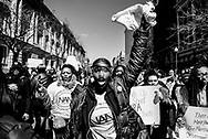 Members of the National Action Network march during the March for Our Lives demonstration as they protest against gun violence in the United States on March 24, 2018, in Washington, D.C. Hundreds of thousands of people joined the student-led protest across the country that was organized by students after the February 14, 2018 school shooting at Stoneman Douglas High School in Parkland, Florida that left 17 people dead. (photo by Leigh Vogel)