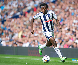 WEST BROMWICH, ENGLAND - Sunday, August 28, 2011: West Bromwich Albion's Somen Tchoyi in action against Stoke City during the Premiership match at the Hawthorns. (Pic by David Rawcliffe/Propaganda)