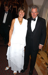 LORD & LADY WALDEGRAVE at a dinner to announce the 2005 Man Booker Prize held at The Guilhall, City of London on 10th October 2005.<br /><br />NON EXCLUSIVE - WORLD RIGHTS