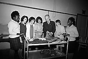 15/11/1966<br /> 11/15/1966<br /> 15 November 1966<br /> Fish Scholarship course at I.C.A. at An Grianan, Termonfeckin, Co. Louth, organised by Bord Iascaigh Mhara. The delegates from I.C.A. Guilds around the country were given a course in fish cookery and lectures and demonstration techniques to impart to their Guilds. Picture shows (l-r): Miss Lilian Mlwilo, Tanzania; Miss Bridie Boylan, Cannaross, Co. Meath; Miss Ann Mangan, Oldcastle, Co. Meath; Renee Gilsenan, Oldcastle, Co. Meath; Mr. Denis Ffrench, Home Market Supervisor, An Bord Iascaigh Mhara; Miss Peggy Brady, Cannaross, Co. Meath and Anthonia Haule, Tanzania.