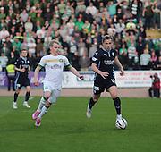 Greg Stewart runs away from Gary Mackay-Steven - Dundee v Celtic - SPFL Premiership at Dens Park<br /> <br /> <br />  - &copy; David Young - www.davidyoungphoto.co.uk - email: davidyoungphoto@gmail.com