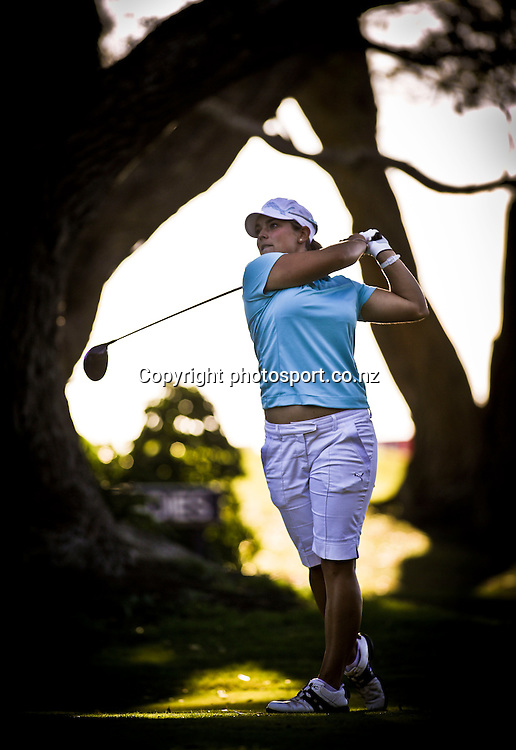 Hanna Seifert on the first day of the Taranaki Energy Open, New Plymouth Golf Club, New Zealand. Thursday 11 April 2013. Photo: John Cowpland / photosport.co.nz