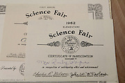 Two certificates acknowledging Ruby Lea Pope's participation at the Houston Public Schools' Science Fair in 1962.