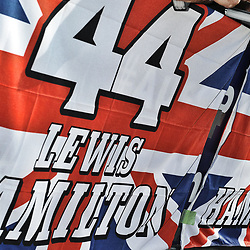 Union flags out ready for Lewis.<br /> <br /> Round 1 - 1st day of the 2017 Formula 1 Rolex Australian Grand Prix at The circuit of Albert Park, Melbourne, Victoria on the 23rd March 2017.<br /> Wayne Neal | SportPix.org.uk
