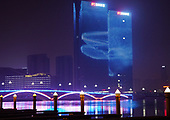Rizhao Shandong Province Night-time China