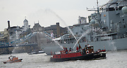 UNITED KINGDOM, London: 9 September 2015 To mark Queen Elizabeth II becoming longest-reigning UK monarch a flotilla headed up by the Gloriana barge parades along the river Thames in London, England. Queen Elizabeth II has reigned for 63 years and seven months longer then any other member of the British Royal Family. Andrew Cowie / Story