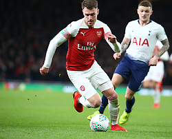 December 19, 2018 - London, England, United Kingdom - London, UK, 19 December, 2018.Aaron Ramsey of Arsenal.during Carabao Cup Quarter - Final between Arsenal and Tottenham Hotspur  at Emirates stadium , London, England on 19 Dec 2018. (Credit Image: © Action Foto Sport/NurPhoto via ZUMA Press)
