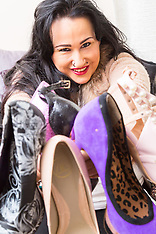 2017-10-03 Natalie West, shoe collector extraordinaire.