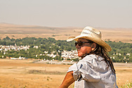 Crow Fair, Henry Real Bird, Crow Indian, Poet, Author, Elder, Bucking Horse Contractor, Crow Indian Reservation, Montana
