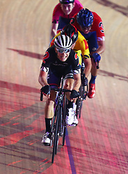 October 26, 2017 - London, England, United Kingdom - Jules Hesters (BEL)(RED) ..compete in the 40km Madison 1878 Cup during day three of the London Six Day Race at the  Lee Valley Velopark Velodrome on October 26, 2017 in London, England. (Credit Image: © Kieran Galvin/NurPhoto via ZUMA Press)