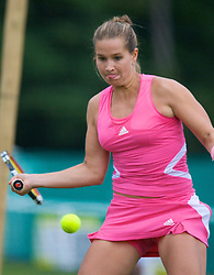 Liverpool, England - Friday, June 15, 2007: Ashley Harkleroad (USA) in action on day four of the Liverpool International Tennis Tournament at Calderstones Park. For more information visit www.liverpooltennis.co.uk. (Pic by David Rawcliffe/Propaganda)