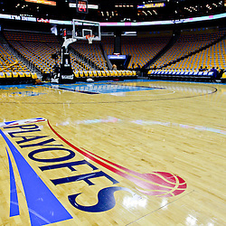 April 22, 2011; New Orleans, LA, USA; A general view before game three of the first round of the 2011 NBA playoffs between the New Orleans Hornets and the Los Angeles Lakers at the New Orleans Arena.    Mandatory Credit: Derick E. Hingle