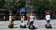 A Segway tourist adventure on Pennsylvania Avenue in Washington.DC  photo by Dennis Brack