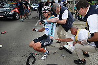 Sykkel<br /> Tour de France 2013<br /> Foto: PhotoNews/Digitalsport<br /> NORWAY ONLY<br /> <br /> BASTIA, FRANCE - JUNE 29: Tony Martin (Germany / Team Omega Pharma - Quickstep) crashed during the first stage of the 2013 Tour de France from Porto-Vecchio to Bastia on June 29, 2013 in Bastia, Corsica - France.