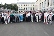 All Formula E drivers with Alejandro AGAG and Jean TODT, <br /> - Sam Bird, DS Virgin Racing <br /> - Alex Lynn, DS Virgin Racing,<br /> - Jean-Eric Vergne, TECHEETAH,  <br /> - Andre Lotterer, TECHEETAH,<br /> - Nick Heidfeld, Mahindra Racing,  <br /> - Felix Rosenqvist, Mahindra Racing,<br /> - Nelson Piquet Jr, Panasonic Jaguar Racing,  <br /> - Mitch Evans, Panasonic Jaguar Racing,<br /> - Daniel Abt, Audi Sport ABT Schaeffler,  <br /> - Lucas di Grassi, ABT Schaeffler Audi Sport,<br /> - Edoardo Mortara, Venturi Formula E Team,  <br /> - Maro Engel, Venturi Formula E Team, <br /> - Sebastien Buemi, Renault e.dams,<br /> - Nicolas Prost, Renault e.dams,  <br /> - Luca Filippi, NIO Formula E Team,  <br /> - Oliver Turvey, NIO Formula E Team,  <br /> - Jerome D'Ambrosio, DRAGON, <br /> - Jose Maria LOPEZ, DRAGON, <br /> - Tom BLOMQVIST, Andretti Formula E, <br /> - Antonio Felix da Costa, Andretti Formula E,<br /> <br /> ROME, ITALY, 14. April 2018, Formula E, ROME, ROMA, ROM, Formula Electric, the Formula Electric Race in the streets of Rome -  fee liable image - Photo Credit: © ATP / Arthur THILL / www.photosport.nz