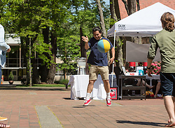 Red Square fun including four square with the Center for Gender Equity, CCES and The dCenter at PLU on Friday, May 13, 2016. (Photo: John Froschauer/PLU)