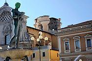 Aquila 6 Aprile 2009.Terremoto all'Aquila.Chiesa di Santa Maria del Suffragio.detta delle Anime Sante (1713), cupola del Valadier