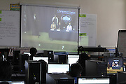 Students watch Champion of Change live on August 31, 2012 at High School.