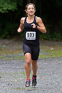 Monroe, New York - Stephanie Snitofsky of Monroe was the first female finisher in the dualthlon at the third annual Southern Orange Family YMCA Tri/Duathlon & Run/Walk on Aug. 2, 2014.