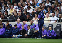 Football - 2019 / 2020 Premier League - Tottenham Hotspur vs. Aston Villa<br /> <br /> Tottenham Hotspur manager Mauricio Pochettino frustrated as they struggle to break down Aston Villa, at The Tottenham Hotspur Stadium.<br /> <br /> COLORSPORT/ASHLEY WESTERN