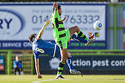 Forest Green Rovers Fabien Robert(26) wins a challenge during the Vanarama National League match between Forest Green Rovers and Guiseley  at the New Lawn, Forest Green, United Kingdom on 22 October 2016. Photo by Shane Healey.