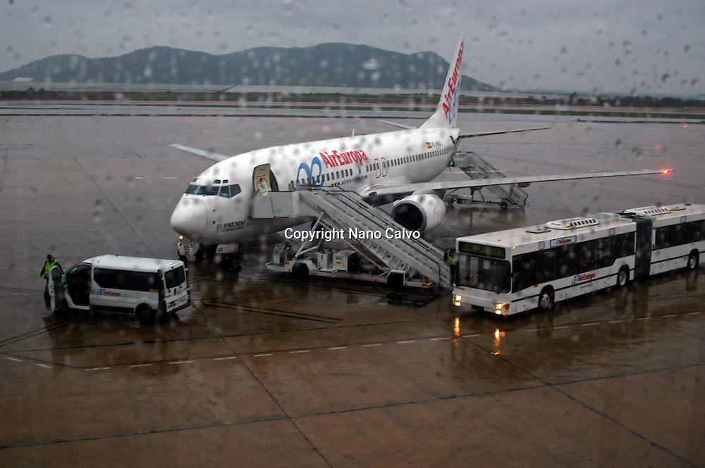 Rainy day in Ibiza Airport