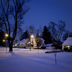 Winter dusk light after a snowfall in Eastgate. (Christina Paolucci, photographer).