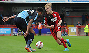 Christian Scales on the attack during the Sky Bet League 2 match between Crawley Town and Wycombe Wanderers at the Checkatrade.com Stadium, Crawley, England on 29 August 2015. Photo by Michael Hulf.