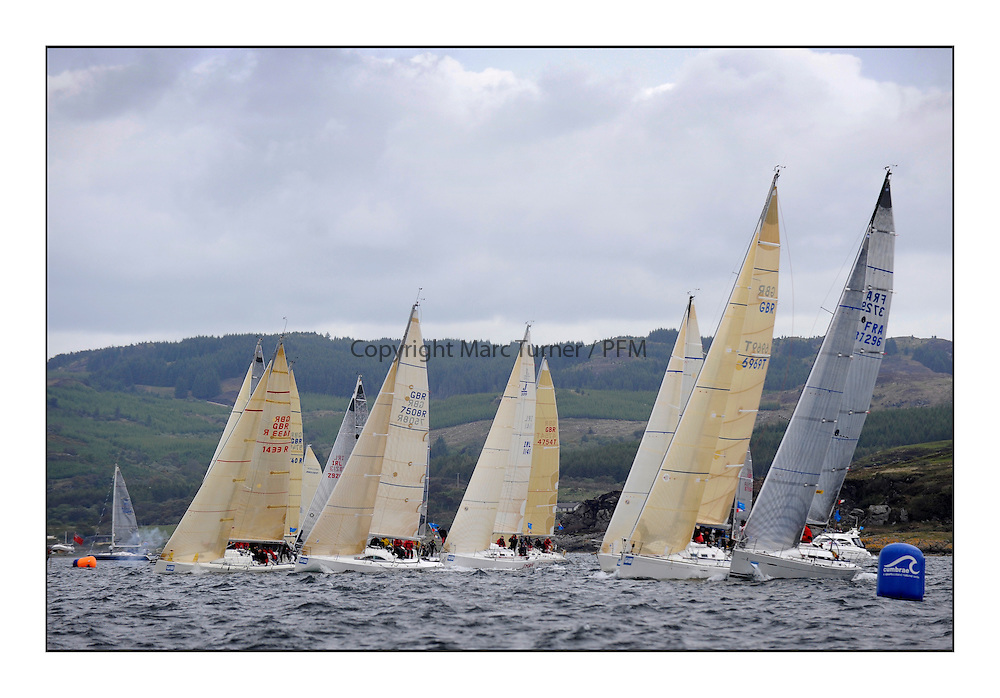 Brewin Dolphin Scottish Series 2011, Tarbert Loch Fyne - Yachting - Day 1 of the 4 day series..Class 3 Start..