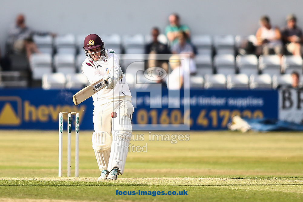 Rob Newton of Northamptonshire CCC batting during the Specsavers County C'ship Div Two match at the County Ground, Northampton<br /> Picture by Andy Kearns/Focus Images Ltd 0781 864 4264<br /> 14/08/2016