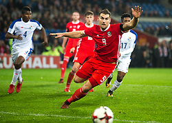 CARDIFF, WALES - Tuesday, November 14, 2017: Wales' Sam Vokes during the international friendly match between Wales and Panama at the Cardiff City Stadium. (Pic by Laura Malkin/Propaganda)
