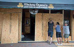 An Irish Pub is boarded up in preparation for hurricane Irma Friday, September 8, 2017 in Hollywood, FL, USA. Photo by /Paul Chiasson/CP/ABACAPRESS.COM