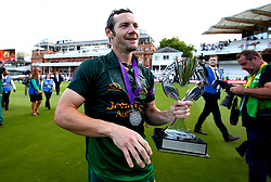 Chris Read of Nottinghamshire with the Royal London One-Day Cup Trophy after his sides win over Surrey - Mandatory by-line: Robbie Stephenson/JMP - 01/07/2017 - CRICKET - Lord's Cricket Ground - London, United Kingdom - Nottinghamshire v Surrey - Royal London One-Day Cup Final 2017