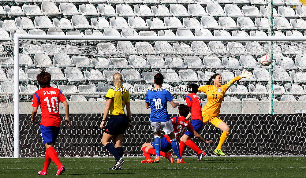 Fifa Womans World Cup Canada 2015 - Preview //<br /> Cyprus Cup 2015 Tournament ( Gsp Stadium Nicosia - Cyprus ) - <br /> South Korea vs Italy 1-2 , Barbara Bonansea of Italy (18-Middle) , score is<br /> goal (0-1) , during the match between South Korea and  Italy