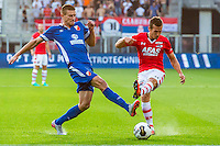 ALKMAAR - 25-08-2016, AZ - Vojvodina, AFAS Stadion, Vojvodina speler Planic Bogdan, AZ speler Stijn Wuytens
