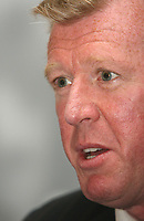 Photo: Chris Ratcliffe.<br />England Press Conference. 11/08/2006.<br />Steve McClaren addresses the media as England manager.