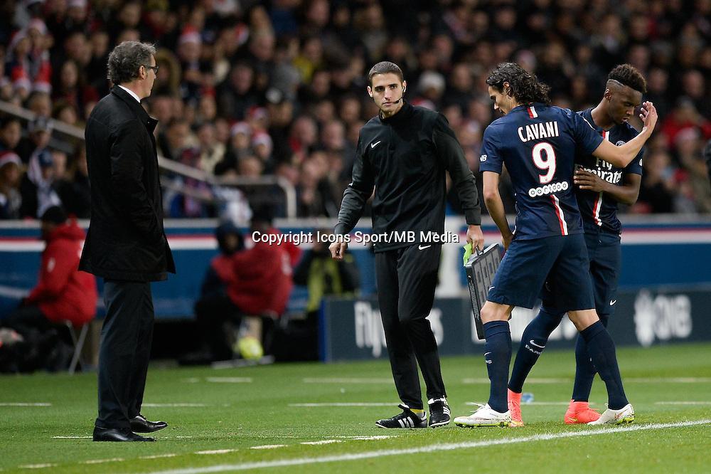 Edinson CAVANI / Jean Christophe BAHEBECK - 20.12.2014 - Paris Saint Germain / Montpellier - 17eme journee de Ligue 1 -<br />Photo : Aurelien Meunier / Icon Sport
